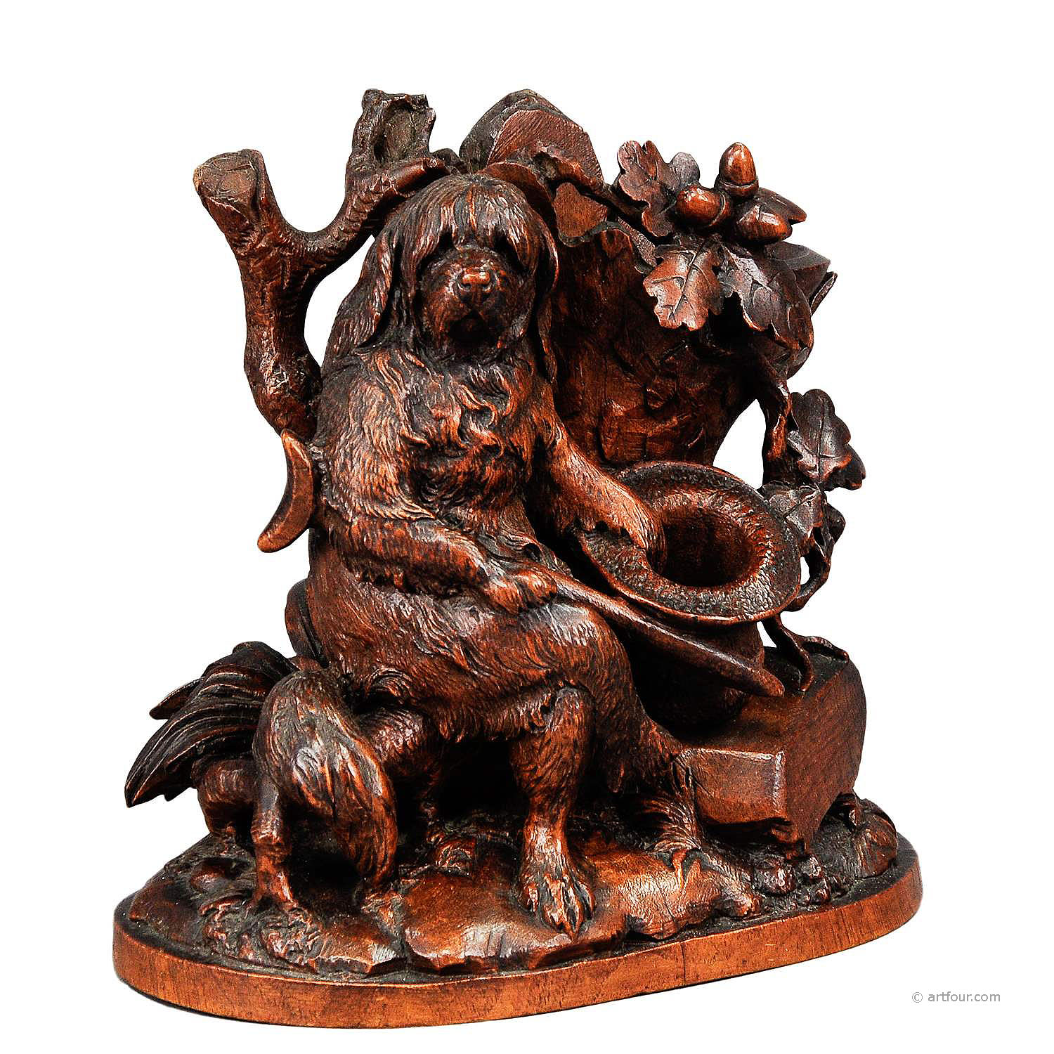 black forest carved disabled dog - brienz ca. 1900
