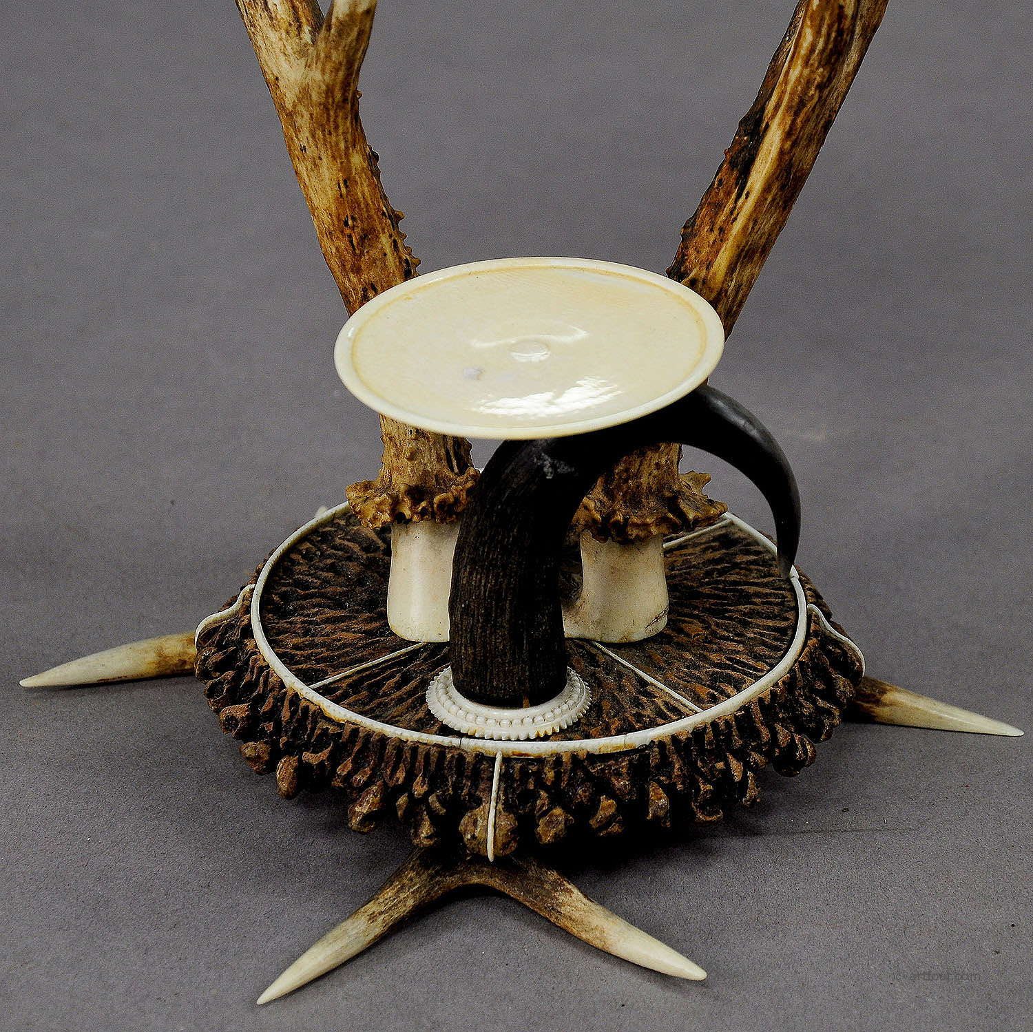 Antler Dressing Table Set With Mirror Ca 1840