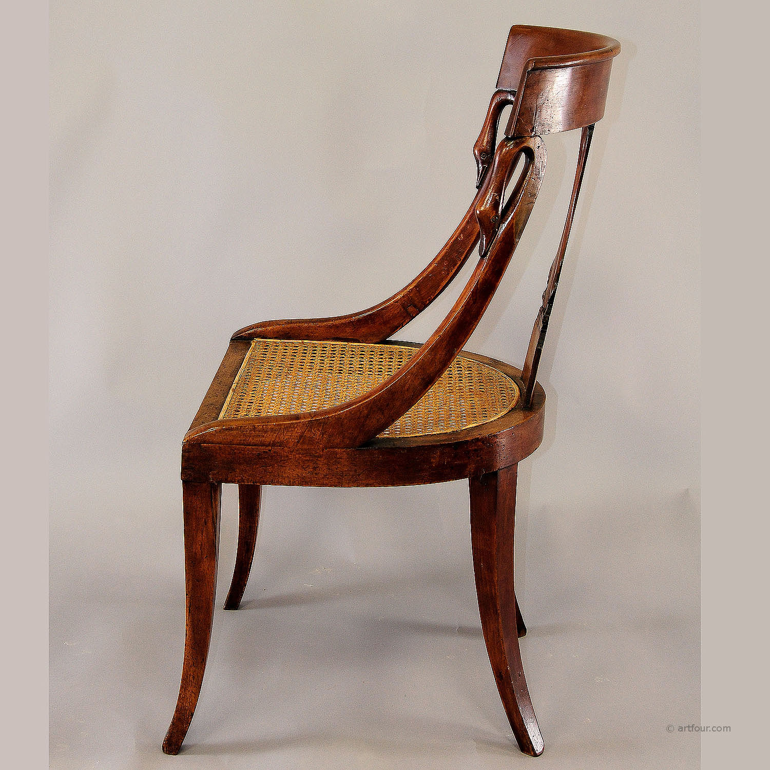 Pair Of Hand Crafted Biedermeier Chairs