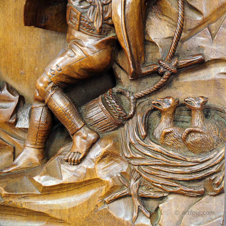 Nest Robber Relief Wood Carving Artfour Com