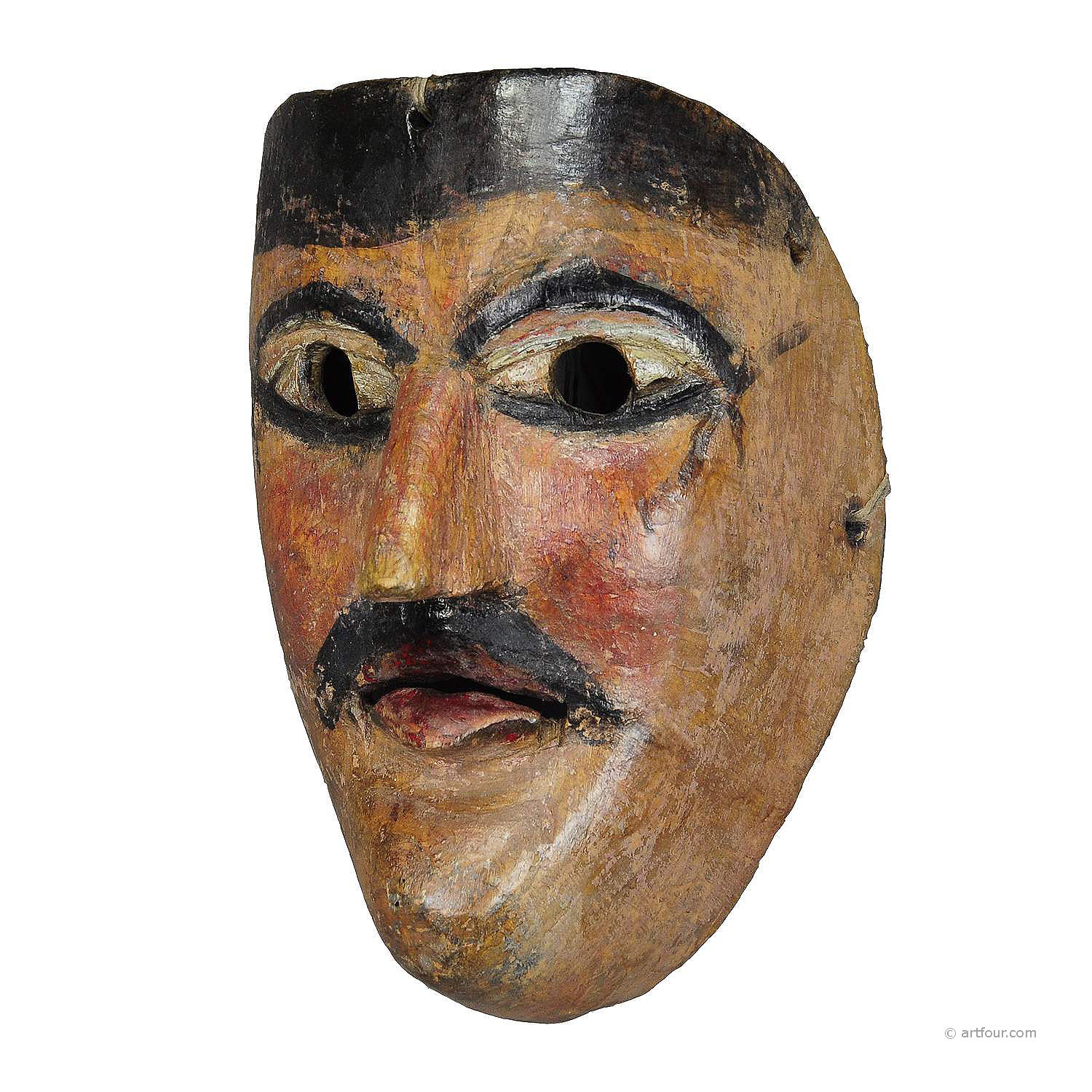 a nice carved and painted tyrolian carnival fasnet mask