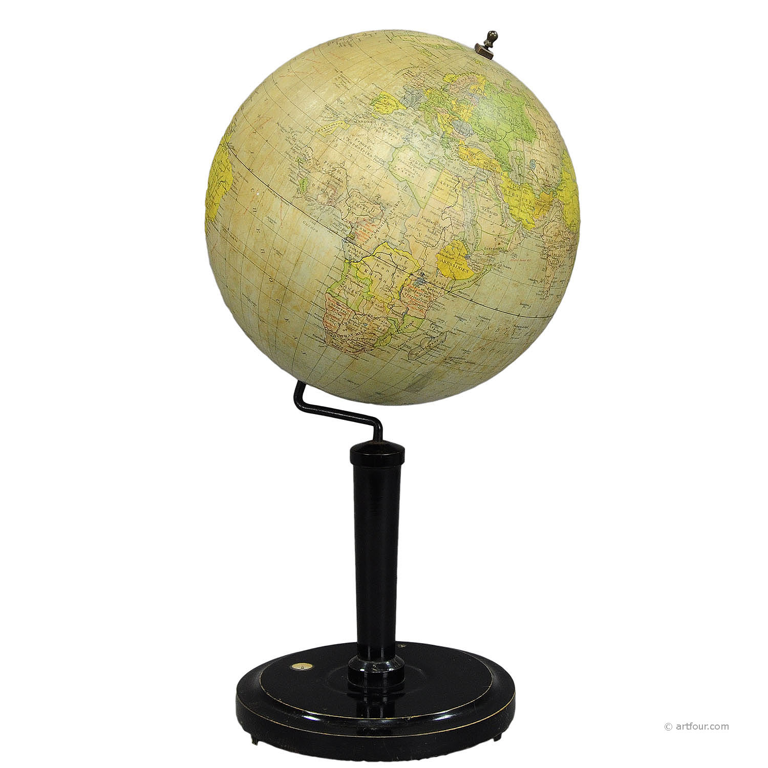 antique vienna earth globe by G. Freytag & Berndt ca.1920
