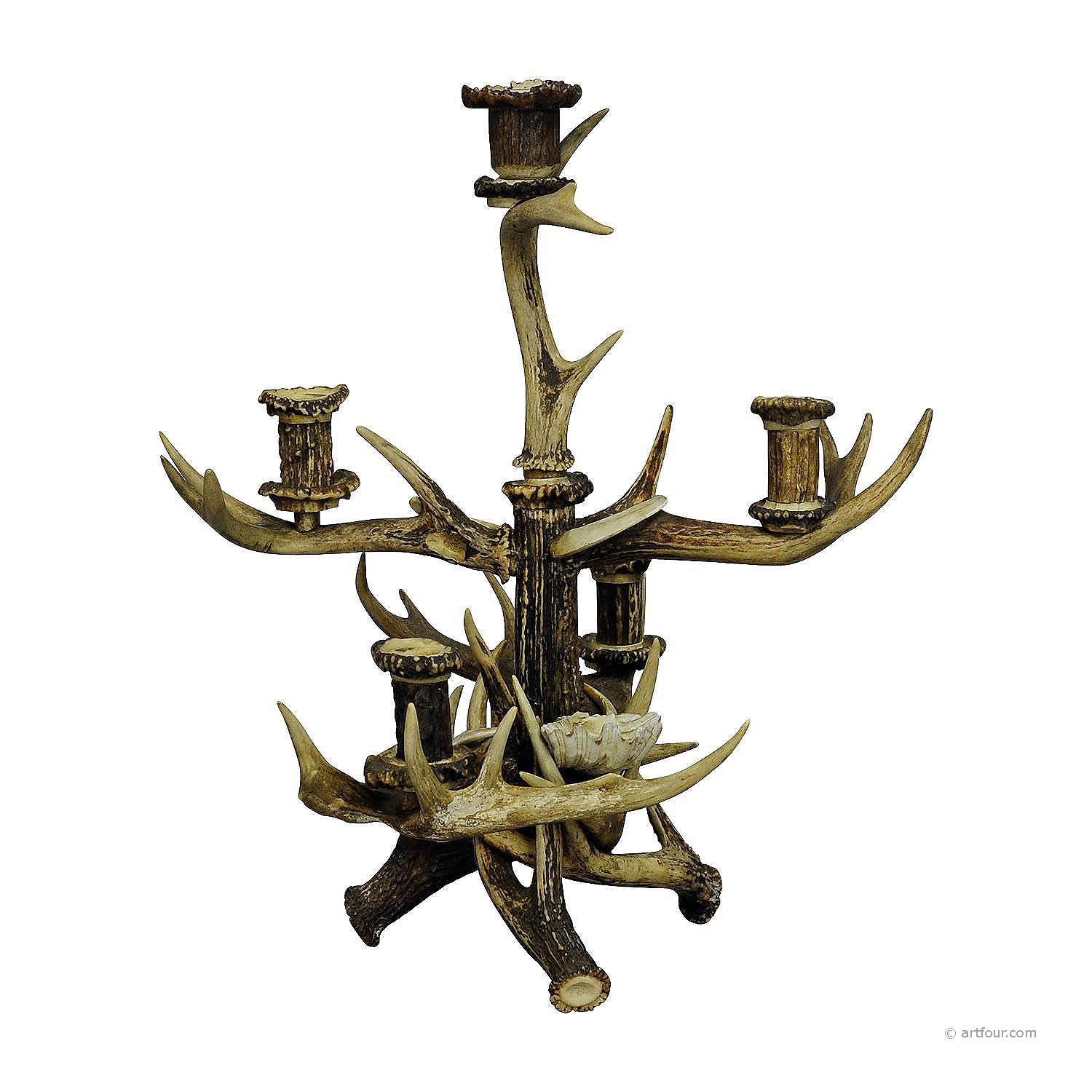 a great black forest cabin decor antler candelabra circa 1900