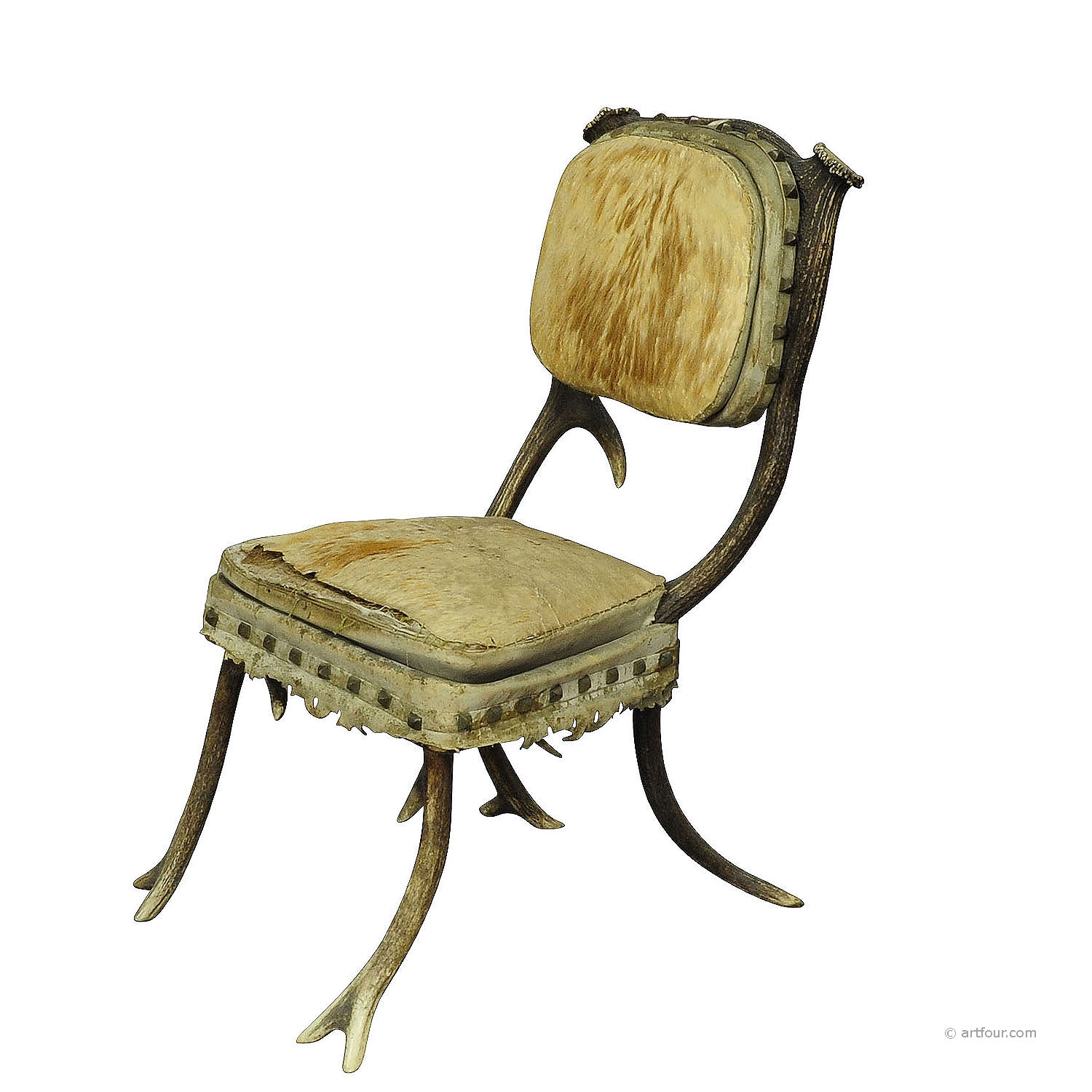 a rare antique antler chair mid 19th century