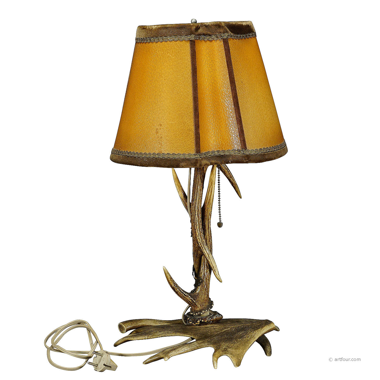 rustic antler desk lamp with deer and virginia deer antlers