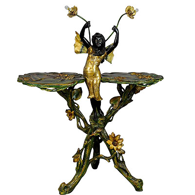image of 19th century venetian fantasy fairy blackamoor side table