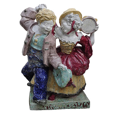 image of Nymphenburg porcelain sculpture dancing couple by Josef Wackerle