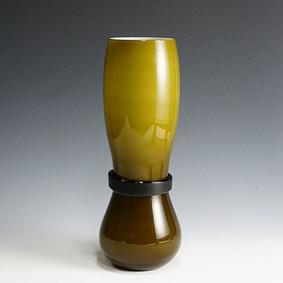 image of simon moore for salviati, large fasciati murano glass vase