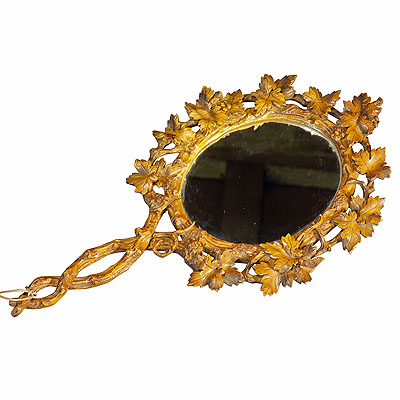 image of antique victorian vanity mirror, black forest ca. 1900