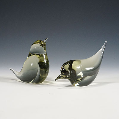 image of a pair of birds designed by livio seguso ca. 1970ties