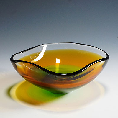 image of seguso vetri d'arte (attr.) murano art glass bowl 1950ties
