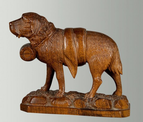 brienz log cabin carvings - domestic animal sculptures