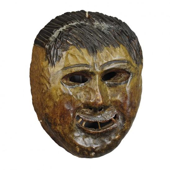 folksy tyrolian carnival masks