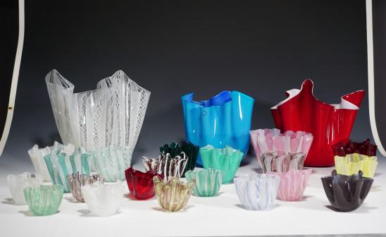fascinating Fazzoletti vases - Murano artglass icons